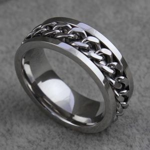 Other - Mens Chain Spinner Style Stainless Steel Ring